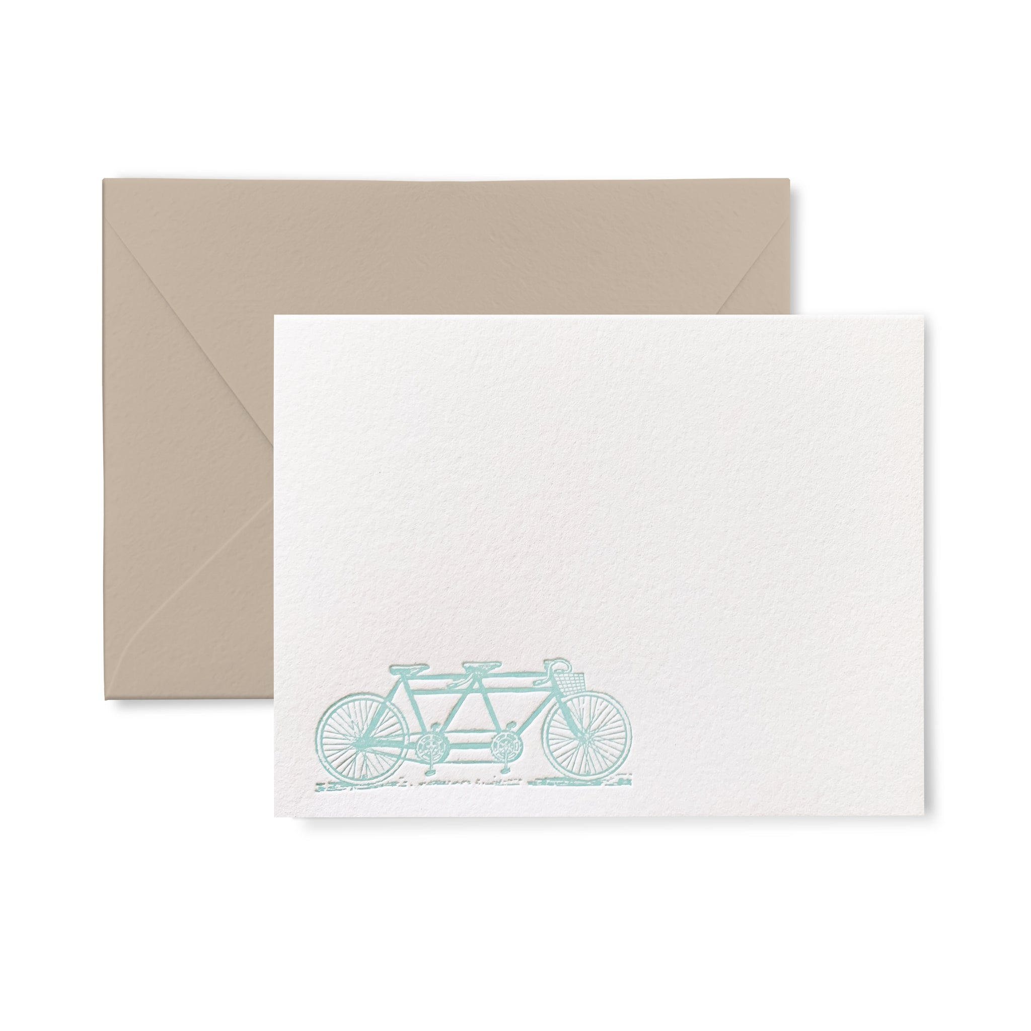 Tandem Bike - Letterpress flat card pack