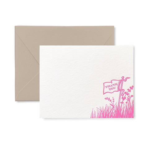 Thank you Flag - Letterpress flat card pack