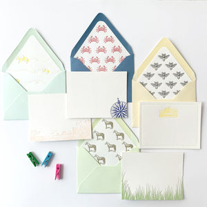Bright & Fresh - Letterpress flat card pack