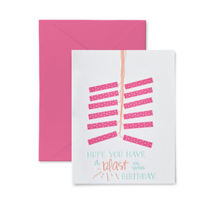 Birthday Blast Letterpress Card