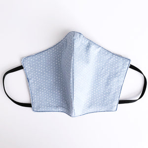 Blue Hearts Cotton Mask