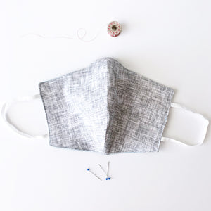 Grey Stitch Cotton Mask