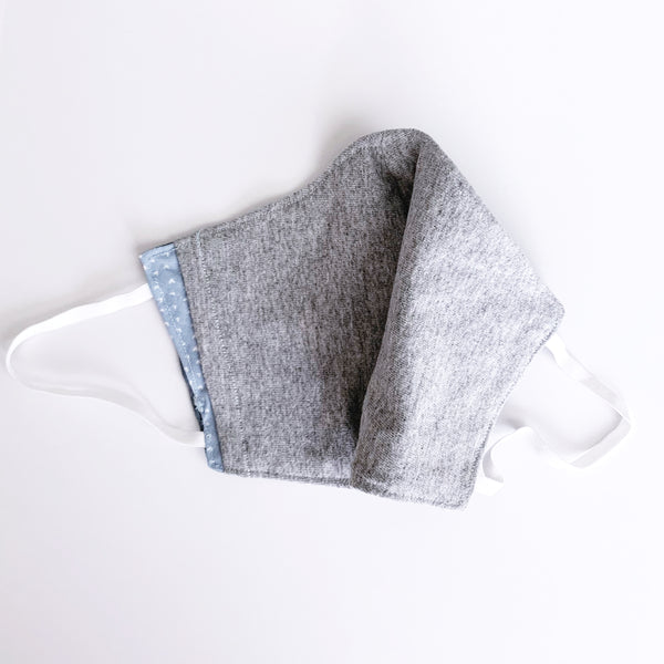 Grey on Grey Cotton Mask