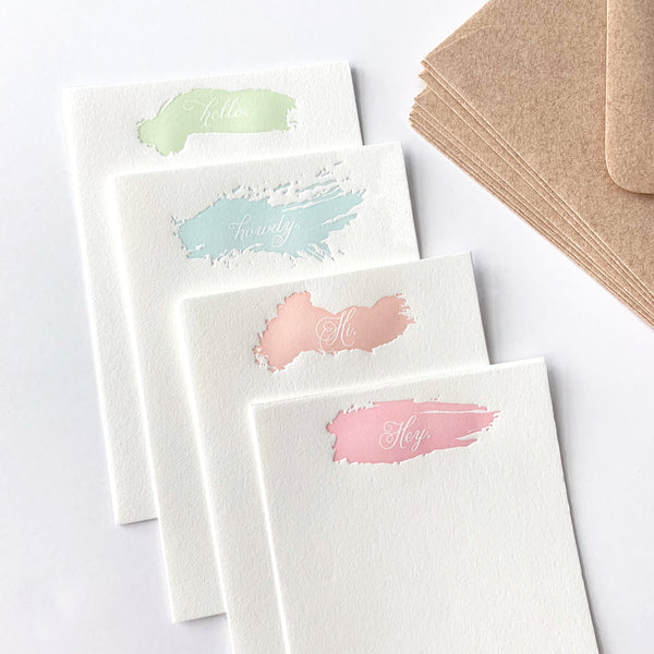Hi Hello - Letterpress Stationery Sheet pack
