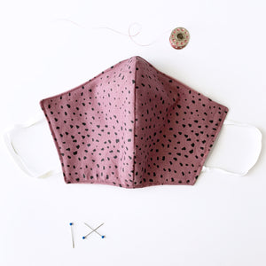 Plum Cheetah Cotton Mask