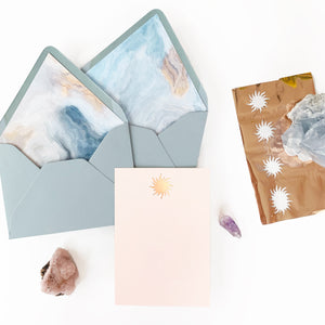 Sunrise Foil Stationery Card pack