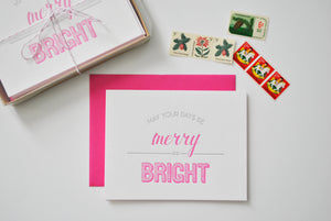 Merry & Bright Letterpress Card Pack