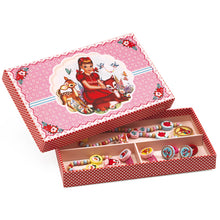 Load image into Gallery viewer, Djeco Jewelry Box with Wood Necklace and Bracelet DJ06590