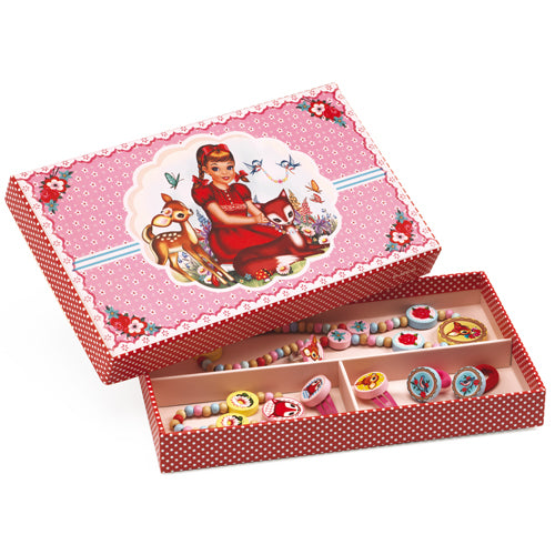 Djeco Jewelry Box with Wood Necklace and Bracelet DJ06590