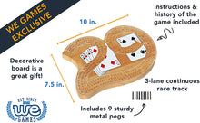 Load image into Gallery viewer, Game Solid Wood Cribbage Board large 29