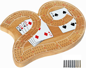 Game Solid Wood Cribbage Board large 29