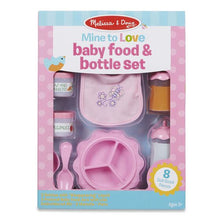 Load image into Gallery viewer, Melissa & Doug Mine to Love Baby Food & Bottle Set
