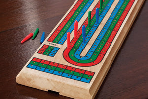 Game Solid Wood Cribbage Board