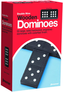Game Dominoes Wooden Double Nine