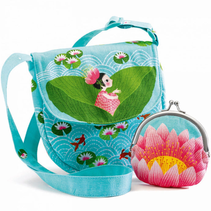 Djeco Embroidered Miss Waterlily Bag & Purse