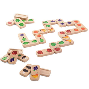 Game Fruit & Veggies Domino by Plan toys