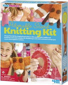 4M Adorable Scarf Knitting Kit