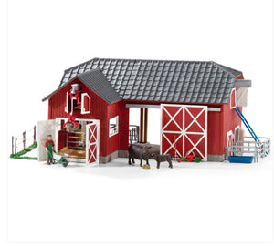 Schleich Large Red Barn and Accessories 72102