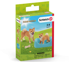 Load image into Gallery viewer, Schleich Shiba Inu Mother and Puppy 42479