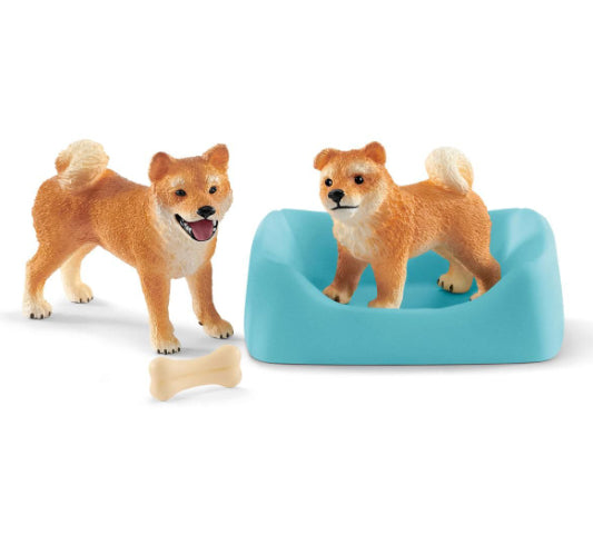 Schleich Shiba Inu Mother and Puppy 42479
