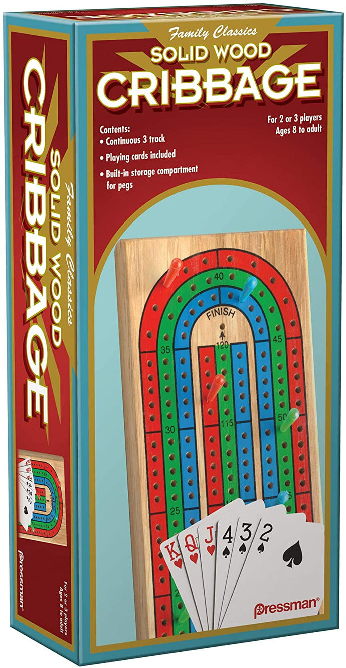 Game Solid Wood Cribbage Folding Board