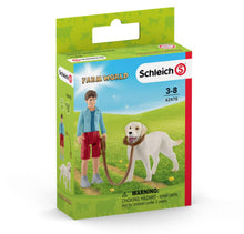 Load image into Gallery viewer, Schleich Walking with Labrador Retriever 42478