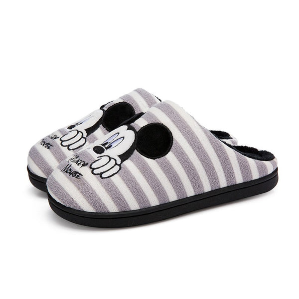 Disney - Pantuflas de Mickey Mouse Gray Talla 36 - 37