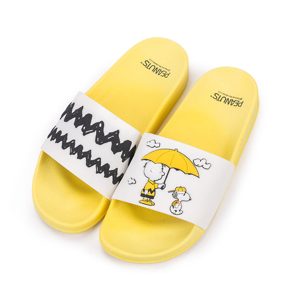 Peanuts - Sandalias Snoopy Charlie Brown Yellow