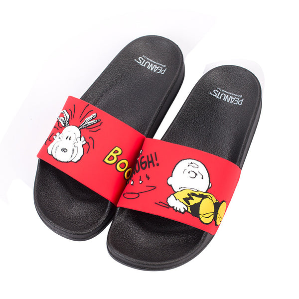 Peanuts - Sandalias Snoopy Charlie Brown Red