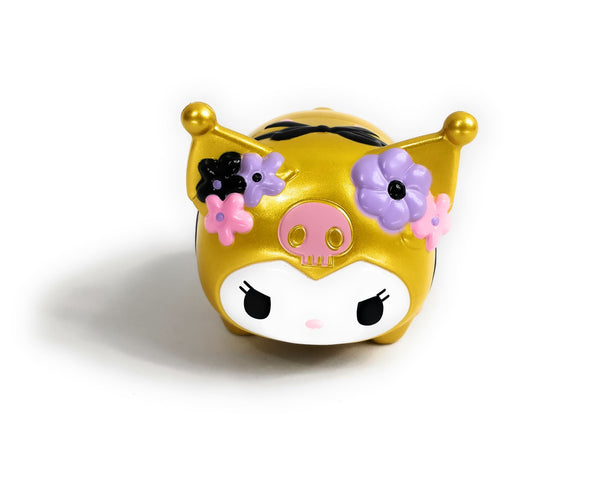 Sanrio - Mini Alcancia Flowers Kuromi Gold