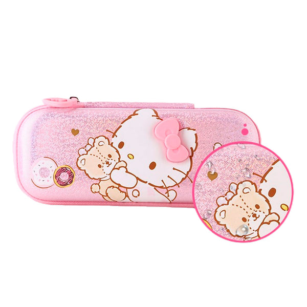 mononoperu,Sanrio - Cartuchera Rosada de Hello Kitty Teddy Bear,Monono,.