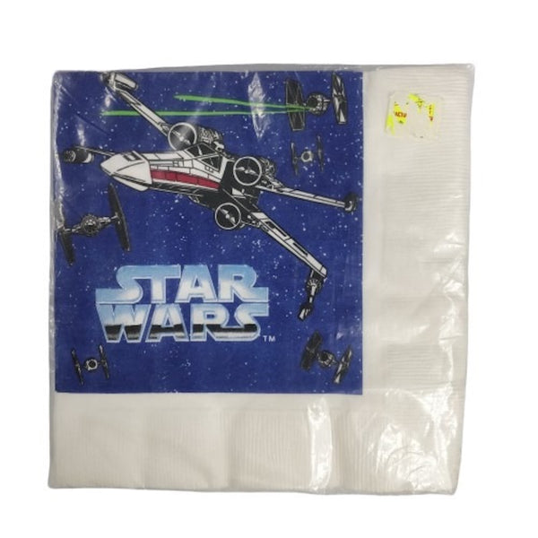 Star Wars - Pack de 16 Servilletas de Cumpleaños Star Wars Naves