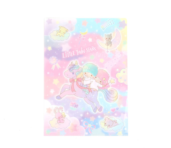 Sanrio - A4 Folder File Unicorn Little Twin Stars - Monono Perú