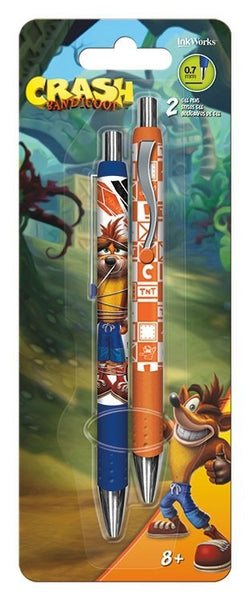 Crash - Pack De 2 Lapiceros De Crash Bandicoot-Crash-Monono-Peru
