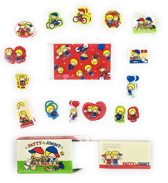 Sanrio - Set de Stickers y Notas Patty & Jimmy-Sanrio-Monono-Peru