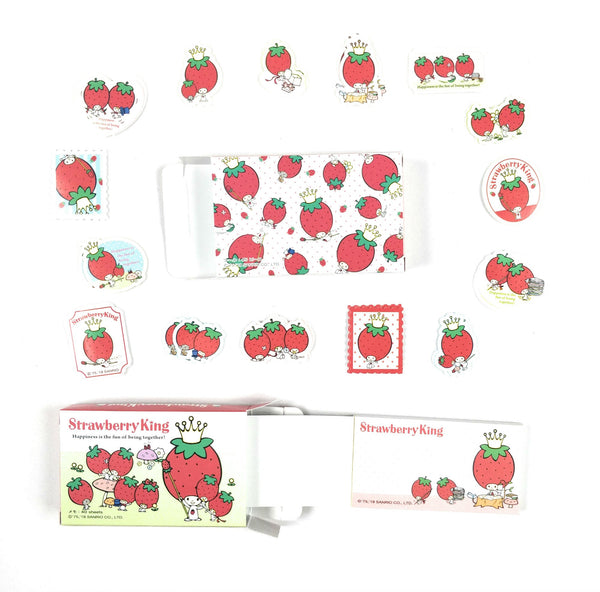 Sanrio - Set de Stickers y Notas Strawberry King - Monono Perú