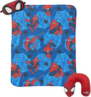 Marvel - Set 3 Piezas Almohada Manta Polar Tapaojos Spiderman-Disney-Monono-Peru