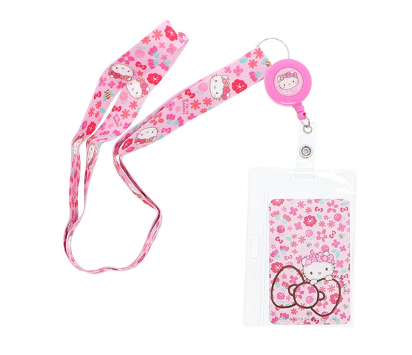 Sanrio - Lanyard con Fotocheck Hello Kitty Crown Flower - Monono Perú