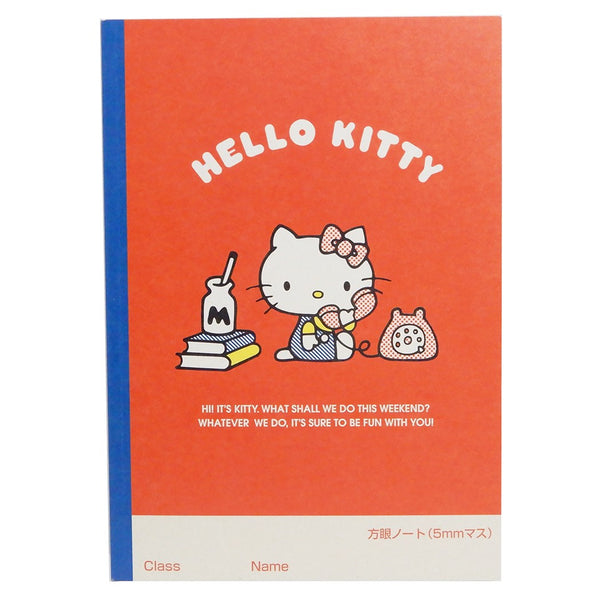 Sanrio - Cuaderno B5 Hello Kitty Red 45th Anniversary - Monono Perú