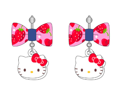Sanrio - Aretes Hello Kitty Denim