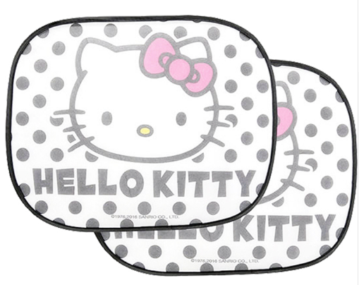 mononoperu,Sanrio - Set de 2 Tapasoles Laterales Hello Kitty Black Dots,Sanrio,