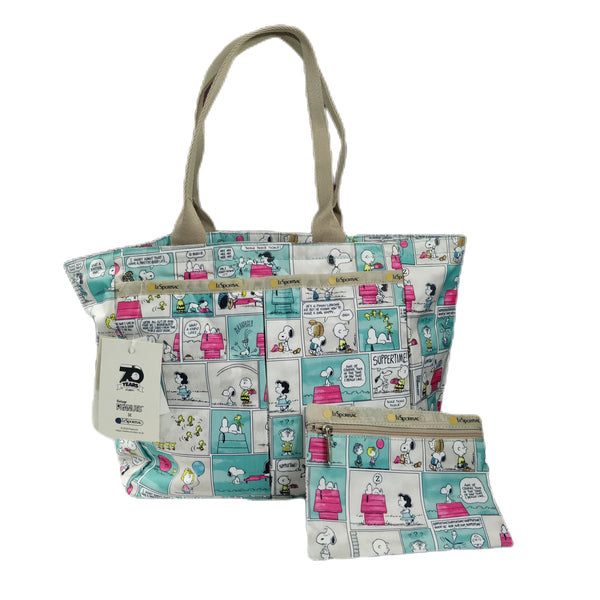 Peanuts - Cartera Bolso Shopping Bag de Snoopy Comics