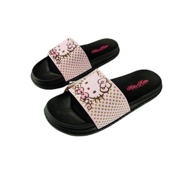 Sanrio - Sandalias de Hello Kitty Black Dots
