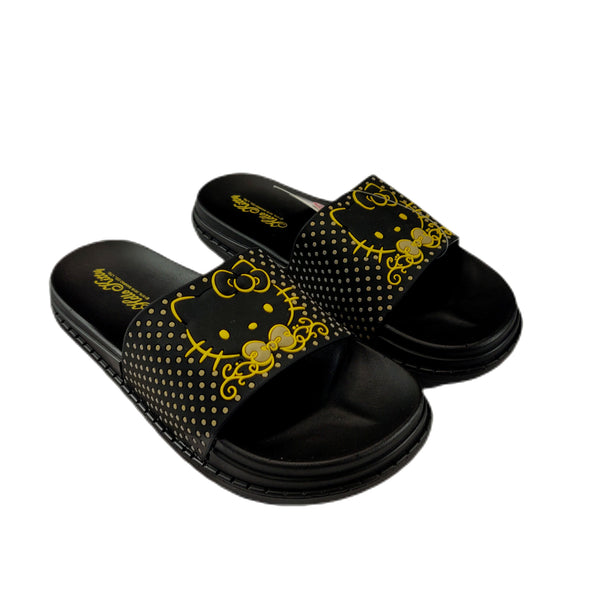 Sanrio - Sandalias de Hello Kitty Gold Dots
