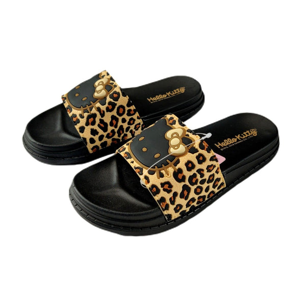 Sanrio - Sandalias de Hello Kitty Animal Print