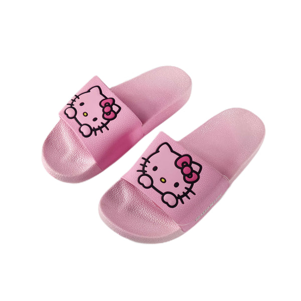 Sanrio - Sandalias Rosadas de Hello Kitty Face