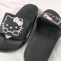 Sanrio - Sandalias Negras de Hello Kitty Face