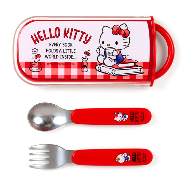 Sanrio - Set de Cuchara y Tenedor Hello Kitty Talk