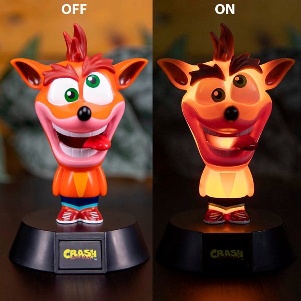 Crash - Lámpara de Mesa de Noche de Crash Bandicoot