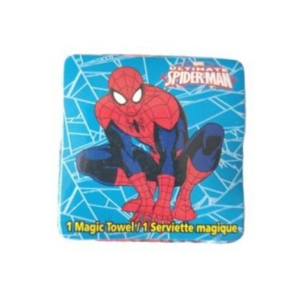 Marvel - Toalla Magica Spiderman Celeste